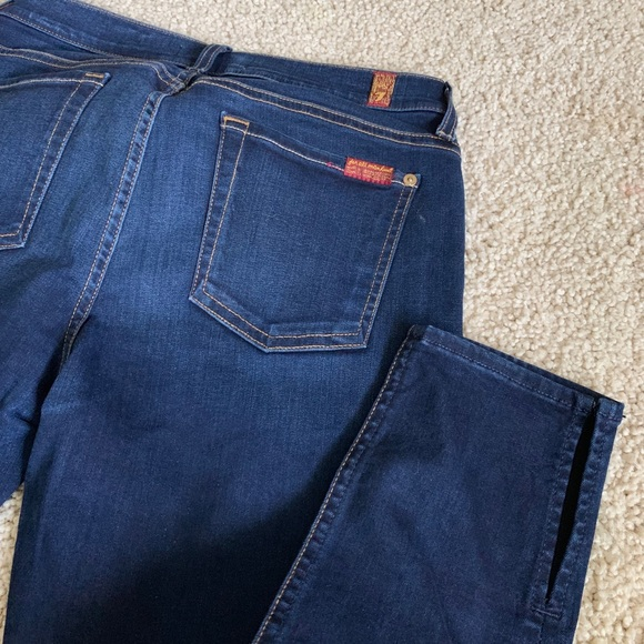 7 For All Mankind Denim - 7 for all mankind ankle skinny jeans
